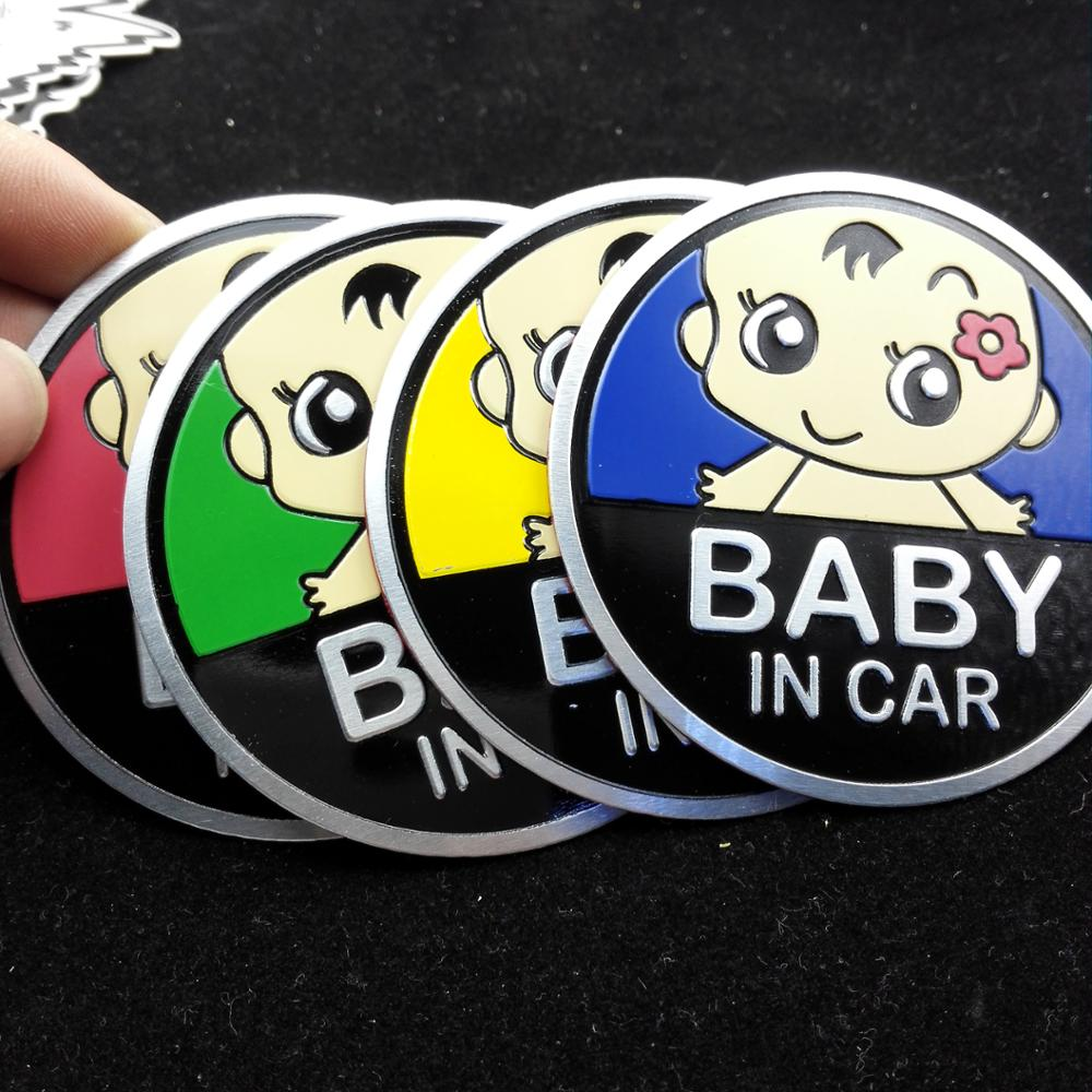 Metal car stickers baby in car For BMW 3 4 5 X3 X4 X5 X6 F10 F18 F30 F35(China (Mainland))