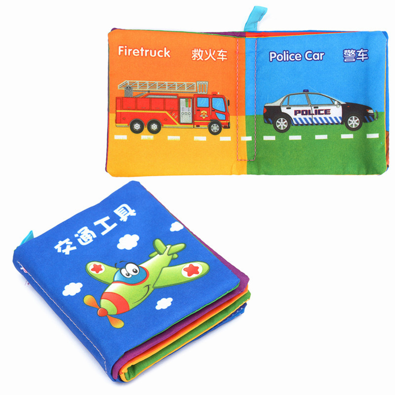 Educational Learning Books Intelligence Development Cloth Cognize Book Early For Kid Baby Fabric Toys Colorful Book For Toddlers(China (Mainland))