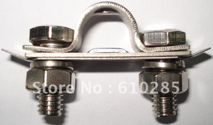 Stainless steel carbon cable clamp connection