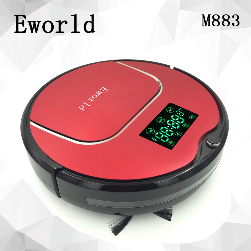 Eworld M883 Newest Robot Vacuum Cleaner,Speed Adjustment,Remote Controller,Anti-falling, updated from M884 free shipping(China (Mainland))