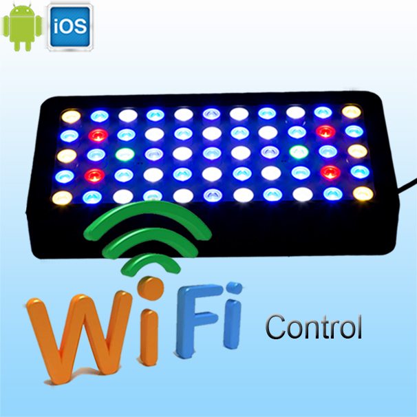 165w wifi led aquarium light warehouse in Germany & USA WIFI controller can handle with IOS/Android system best for tank coral(China (Mainland))