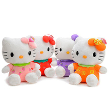 1pcs Fruit Hello kitty Cat Plush Toys 4 Colors 18cm Price for Girl Toys(China (Mainland))