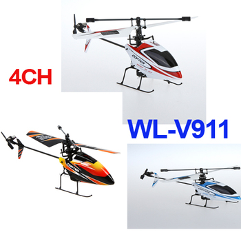 Hot Sale Toys Wltoys V911 4CH 2.4GHz Mini Radio Single Propeller RC Helicopter V911 RTF 3 colors
