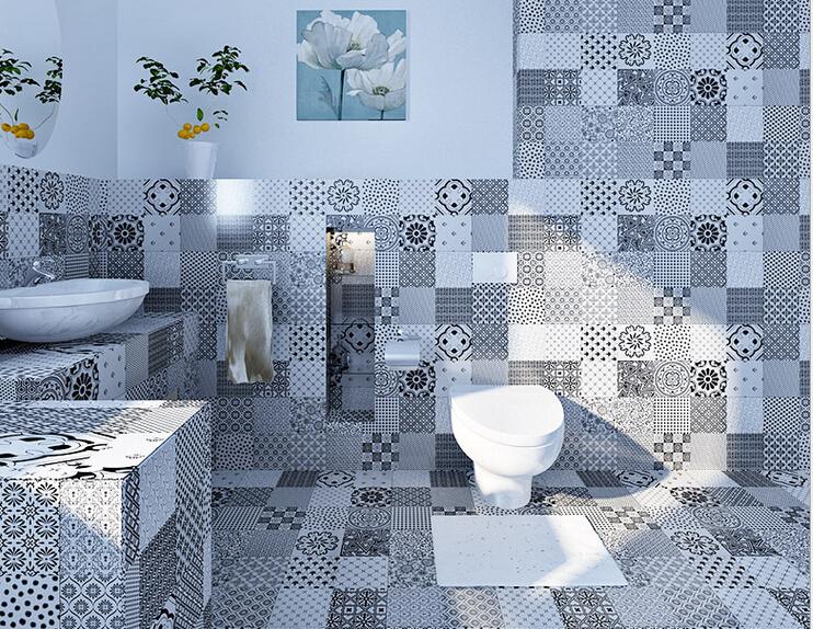 Bagno bianco e bordeaux design casa creativa e mobili for Piastrelle bagno bianche e nere