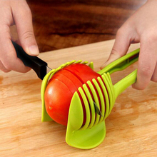Multifunctional Kitchen Accessories Creative Gadget Vegetable Tools Onion Holder Slicer Tomato Cooking Fruit Cutter #KF