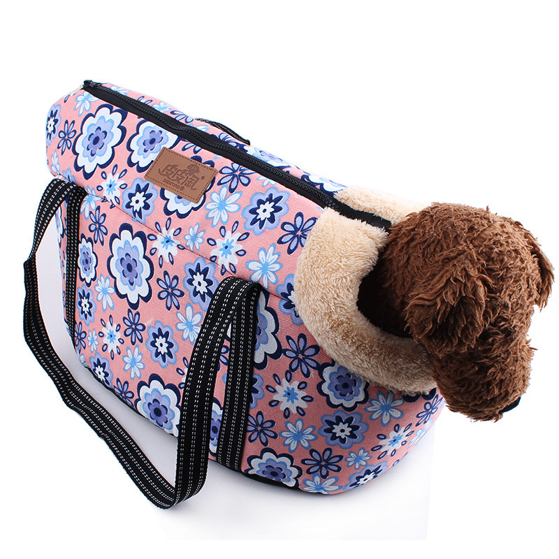 2016 Pet Bag Dog Carrier Travel Carrying Bag For Dogs And Cats Leopard Print Small Dog Pink Polka Dots Cat Backpack CLD034(China (Mainland))