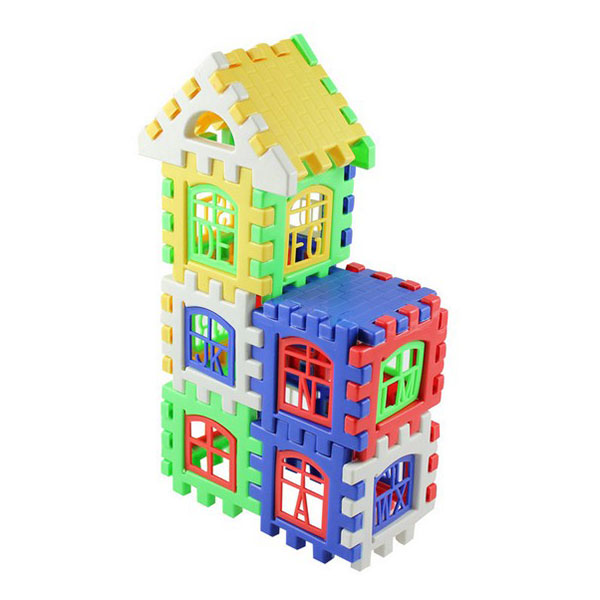 High Quality Creative 24 Pieces DIY Craft Gift House Building Blocks Coroful Toys for Children Kids free shipping