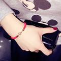 2016 Animal year transfer red string bracelet rose gold circle simple letter hand rope bracelet female