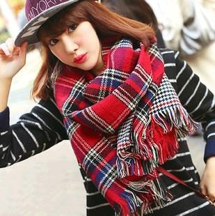 Двусторонняя дома хаундстут плед шарфы супер теплые кашемировые шарфы , платки англии колледж ветер оптовая продажа