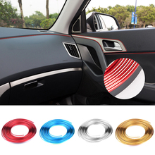 5M Universal Car Styling Flexible Interior Internal Decoration Moulding Trim Decorative Strips Line DIY 9 Colors Car-Styling(China (Mainland))