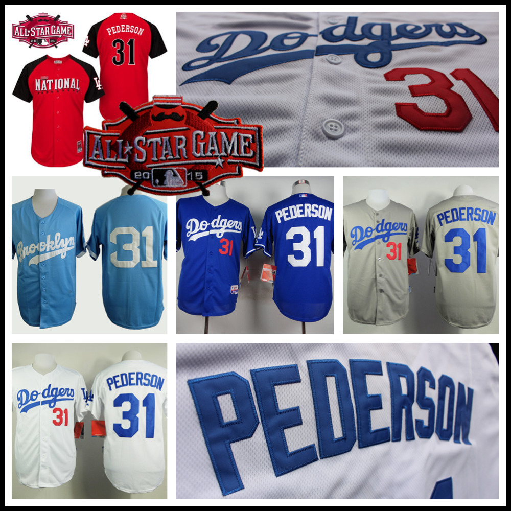National League 2015 Baseball All Star Joc Pederson Jersey, Cheap Los Angeles Dodgers Baseball Jersey Stitched High Quality(China (Mainland))
