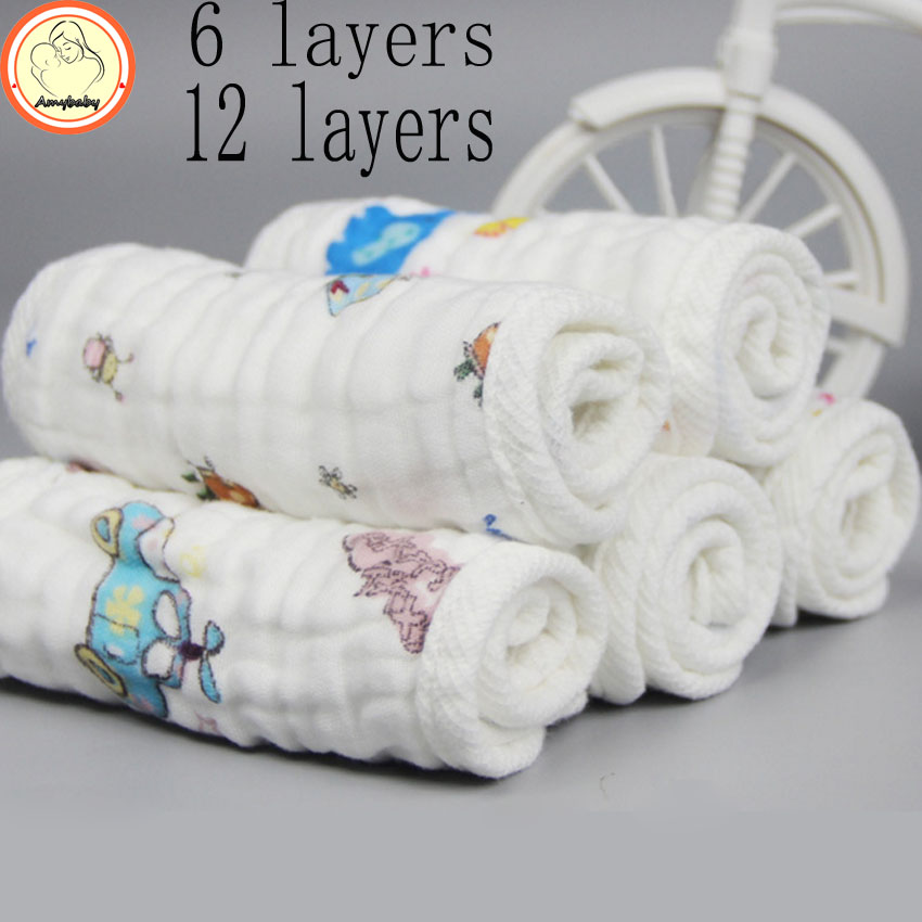Reusable baby Diapers gauze Cloth Diaper Inserts 6 Layer 12 layer 15x45cm Insert 100% Cotton Washable Baby Care Products(China (Mainland))