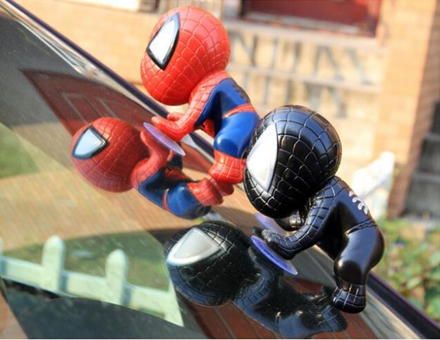 New Hot Sale Spiderman Window Sucker Climbing Doll Car Home Interior Decoration Red/Black(China (Mainland))