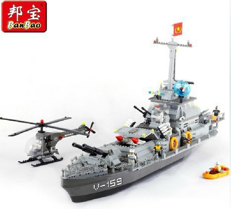 Without Original Box Bang Bao building blocks assembled fight inserted toys Thunder warships 8240 1200Pcs/set super large<br><br>Aliexpress