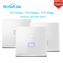 broadlink TC2 1/2/3 Gang Wireless Wifi Remote Wall Touch Screen Light Smart Switch Home Controller Automation By IOS Android