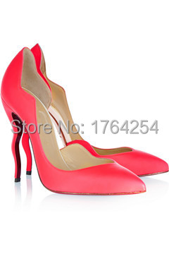 2015 New Coming Fashion Women Shoes Lady Pumps Strange Style Red ...