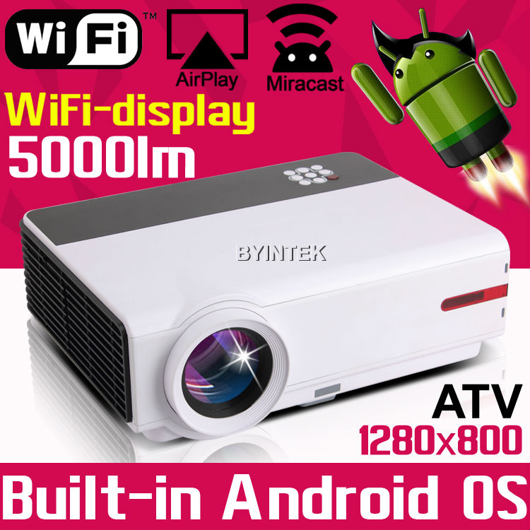 High definition Smart Home Theater 1080P TV 3D Video HDMI LCD Video fuLL HD LED Android Wifi Projector for pc game<br><br>Aliexpress