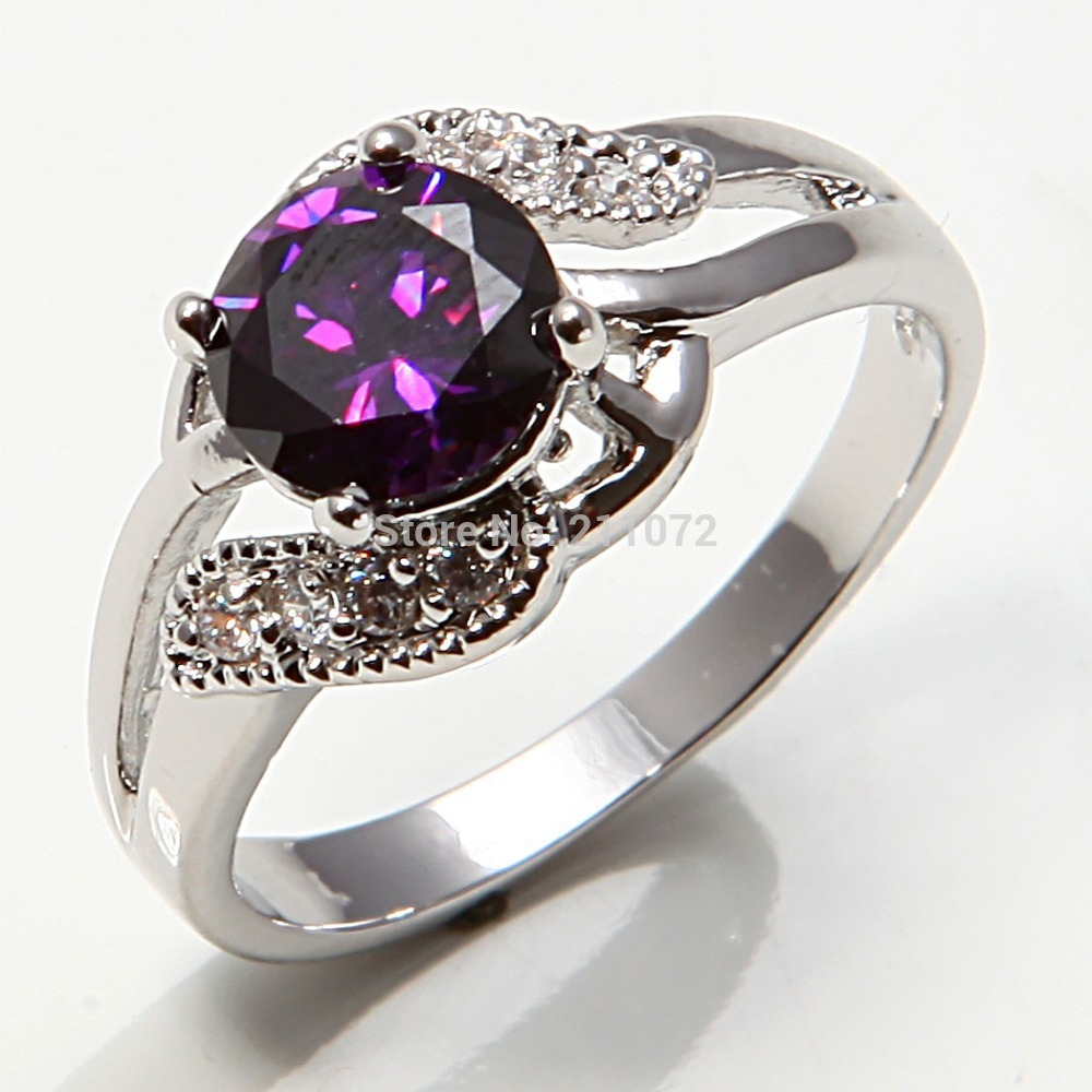 Jewelry 10k white gold filled amethyst women 39 s engagement for 10k gold jewelry