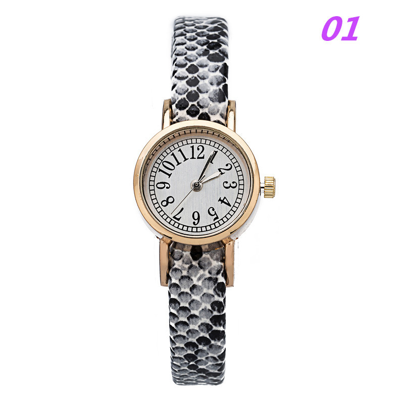 8 Colors 2015 Fashion Women Quartz Watch Snake Texture Arabic Numeral Small Dial Students Wristwatch PU Leather Strap Gift Clock<br><br>Aliexpress