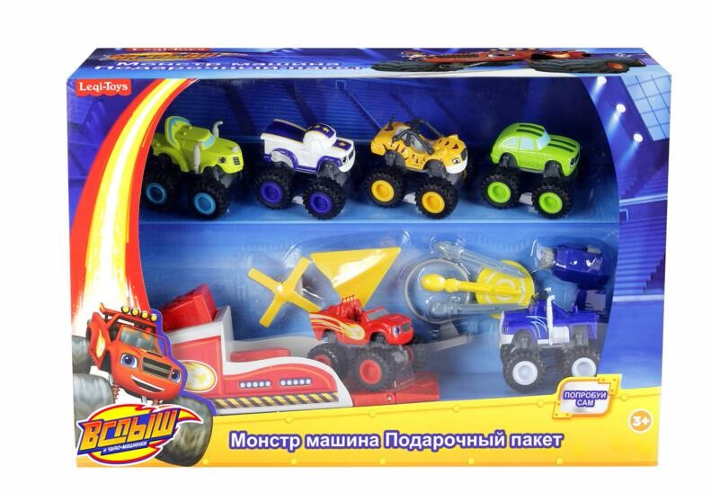 2016 in stock Blaze Monster Machines Russia blaze miracle cars toy for kids Car Transformation Toys With Original Box Best Gifts(China (Mainland))
