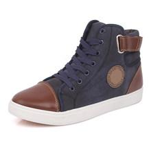 Zapatos de hombre calientes de moda botas de invierno de piel caliente para hombre calzado de cuero de otoño caliente para hombre nuevos zapatos casuales de lona de alta calidad(China)