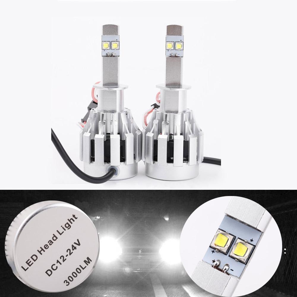 2*30W/Bulb CREE U2 60W Auto H1 Cree LED Headlights Bulb 6000LM 6000K-6500K Super Bright 360 Degree Lamp All in One Aluminum(China (Mainland))