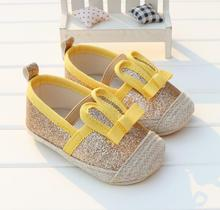 Gold/black/white/pink / 4 color cartoon rabbit model, 0 and 1 year old cute newborn baby boy & girl toddler shoes 11-13cm