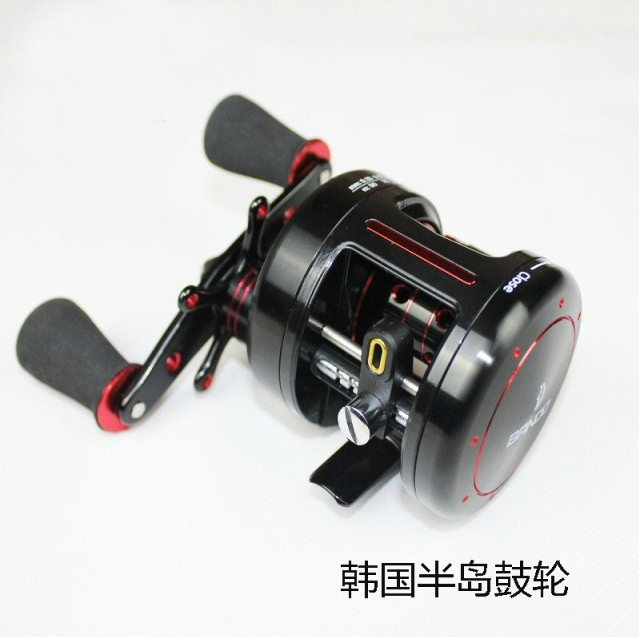 Korean Bando Baitcasting Reel 6 Bearings RIGHT HAND Round Fishing Reel 5.1:1 Gear Ratio 278g Casting Rod Fishing Free Shipping(China (Mainland))