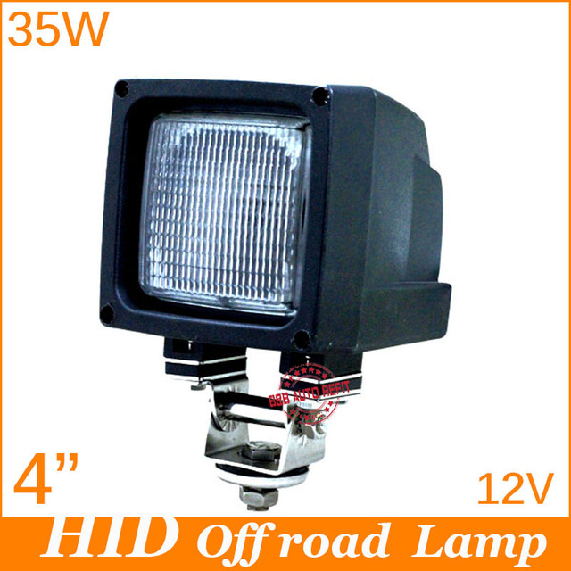 "Mini 4"" 35w 3600lm D2H HID xenon tractor working lamp with internal ballast FULL flood beam HID driving work lamp,Freeshipping"