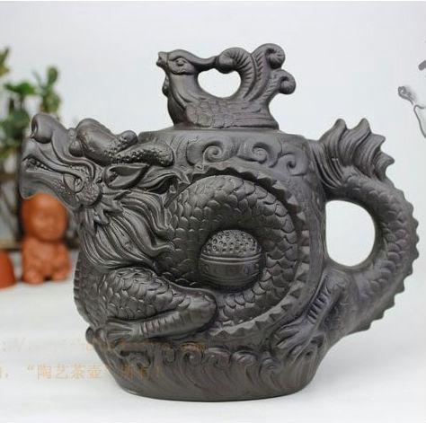 Authentic yixing teapot dragon and phoenix tea pot 510ml big capacity purple clay tea set kettle kung fu teapot(China (Mainland))
