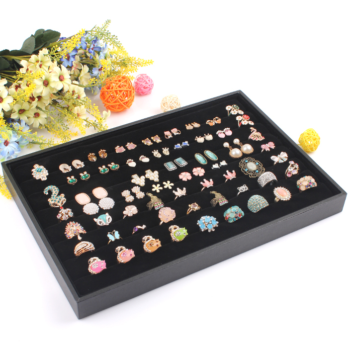 Hot selling rings display cases Jewelry Rings Boxes Cases Display Rectangle rings show case free shipping(China (Mainland))