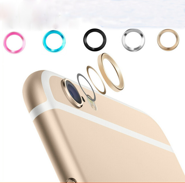 New Arrival! Fashional Rear Camera Glass Guard Circle Lens Protective Case Cover Ring for Apple iphone 6 / 6 plus(China (Mainland))