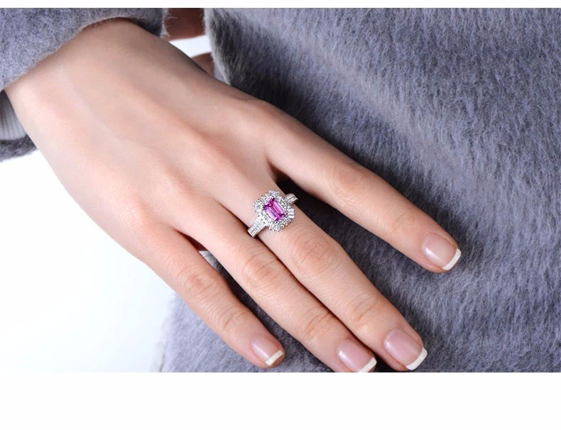 Ct Pink Pad Sapphire Engagement Ring