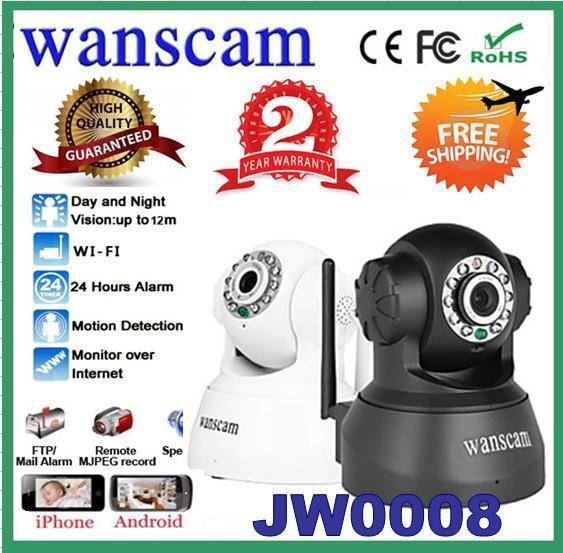 2 pcs/lot Wireless Dual Audio WiFi Network PanTilt IR CCTV Wanscam Night Vision Security Surveillance IP Camera JW0008