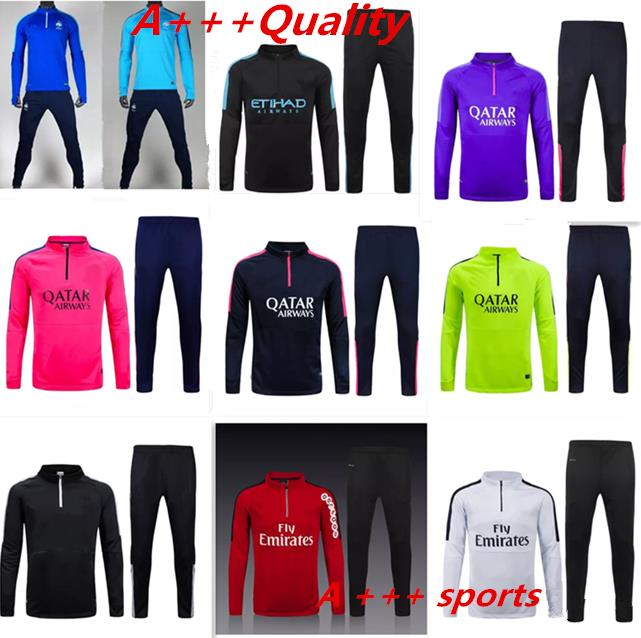 2015/2016 survetement City football PSG training suit Chelsea soccer training france soccer tracksuits Manchester chandal(China (Mainland))