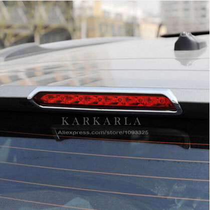 Car rear high brake lights decoration Exterior chrome Styling sticker ABS material products accessory For Opel Mokka(China (Mainland))