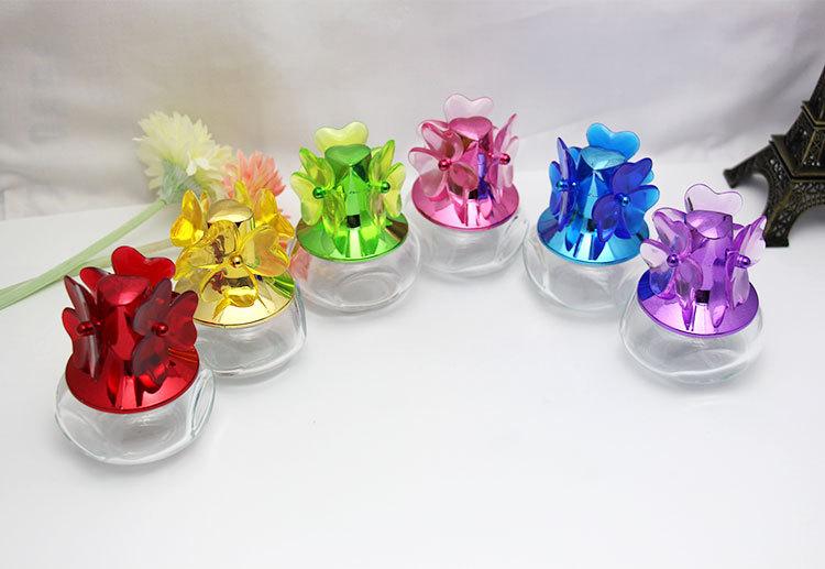 30MLColored Glass Perfume Bottles High-end Flower Spray Empty Perfume Bottle 2PCS/LOT(China (Mainland))