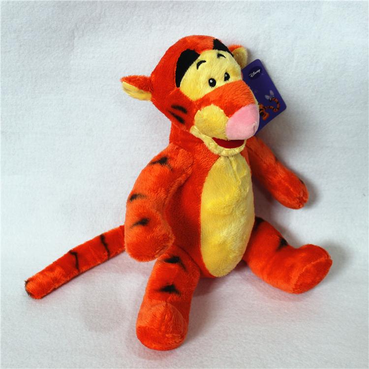 Free 1pcs 25cm=9.8inch Tigger Tiger stuffed animal plush toy birthday gift 100% GOOD