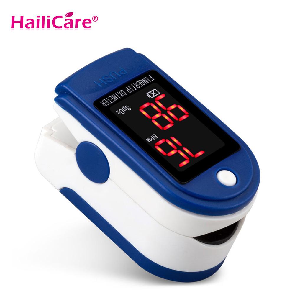 Hailicare Arm Health Care Finger Tip Pulse Oximeter LED Display Blood Oxygen Saturation SpO2 Digital Pulse Heart Rate Monitor