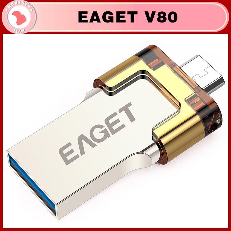 100% orignal EAGET V80 16G 32G 64GB USB Flash Drives OTG external storage micro USB 3.0 64GB pen drive Android Smart Phone(China (Mainland))