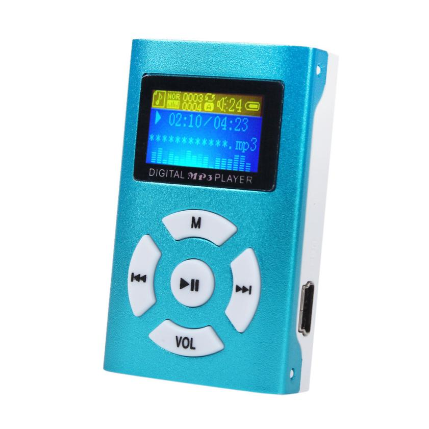 Hot Sale LCD Metal High Quality Clip Mp3 Music Player With Card Slot Mini Mp3 Player 5 Colors Free Shipping(China (Mainland))