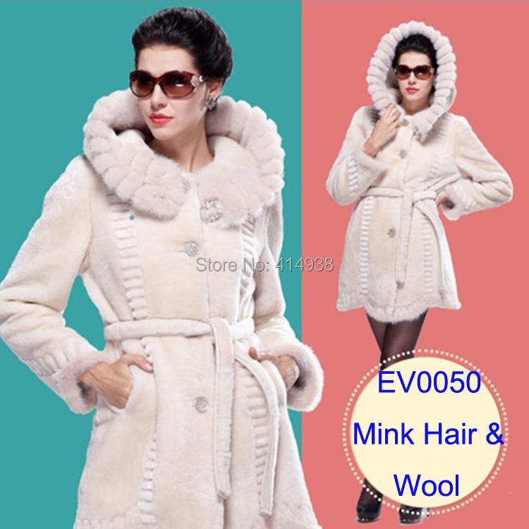 2015 Luxury Sheepskin Fur Coat Women Merino Sheepskin Jacket Real Fur Clothing Female Mink Jacket Natural Genuine Fur Overcoat(China (Mainland))