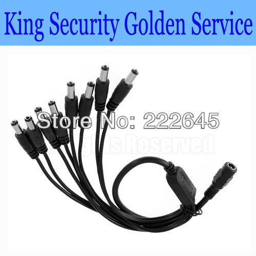 8 WAY 8-WAY CCTV DC POWER SUPPLY SPLITTER CABLE 2.1mm x 5.1mm 9V AND 12V PSU - King Security Technology Co., Limited store