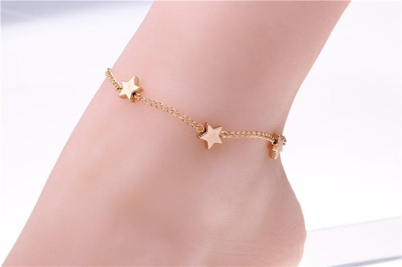 ankle bracelets for women foot bracelet pulseras tobilleras star anklets for women gold filled anklets crystal bracelet cheville