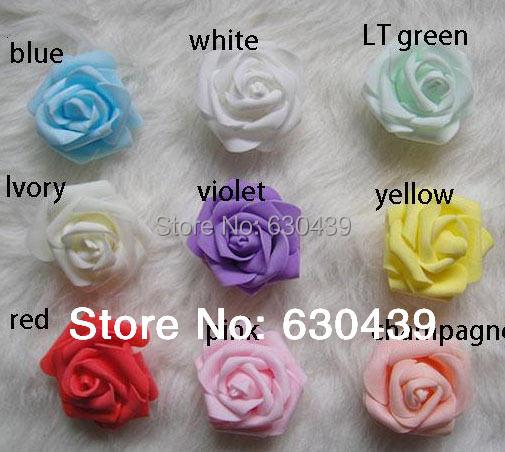 NEW arrival 11colors(100pcs/bag) foam rose artificial flower home wedding car decoration flowers 5-6cm free shipping(China (Mainland))