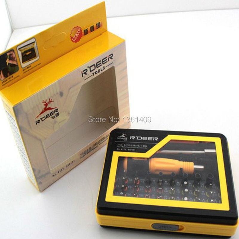 HK R'DEER 53 in 1 DIY Mobile Phone Multi-purpose Precision Screwdriver Set for MP3/Computer/Mobile Phone(China (Mainland))
