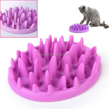 1piece Cat Interactive Slow Feeder Catch Bowl Non Slip Anti Gulping Kitten Food Dish Dog Pets Feed Toys 26*22*7.2cm Y0081(China (Mainland))