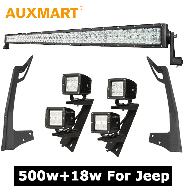 buy auxmart 500w 52 inch cree chips 5d. Black Bedroom Furniture Sets. Home Design Ideas