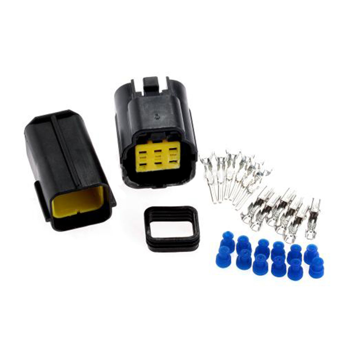 High Quality 1 Kit 6 Pin Way Waterproof Wire Connector Plug Car Auto Sealed Electrical Set For Set Car Truck Boat ect(China (Mainland))