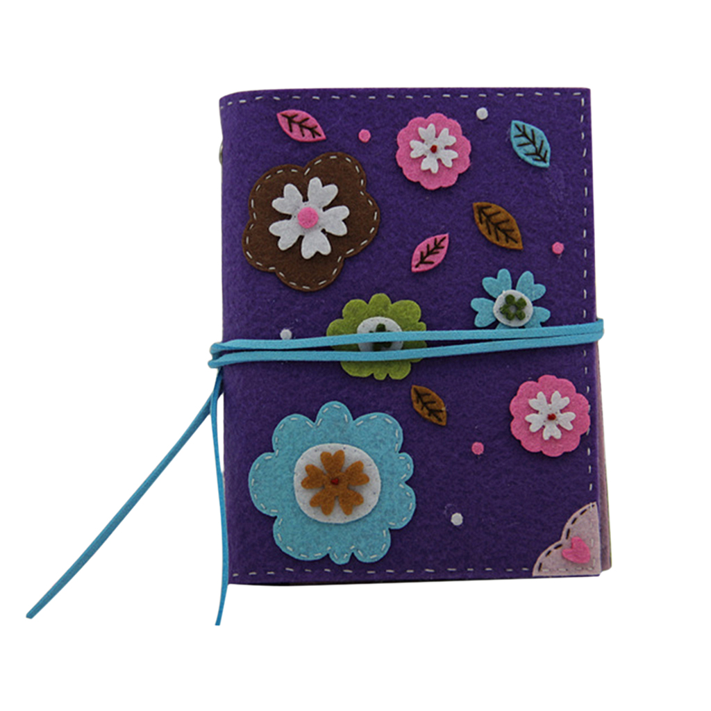 DIY Felt Craft Notebook Needle Felting Kits Sewing Material Package for Teens Girls School Supplies